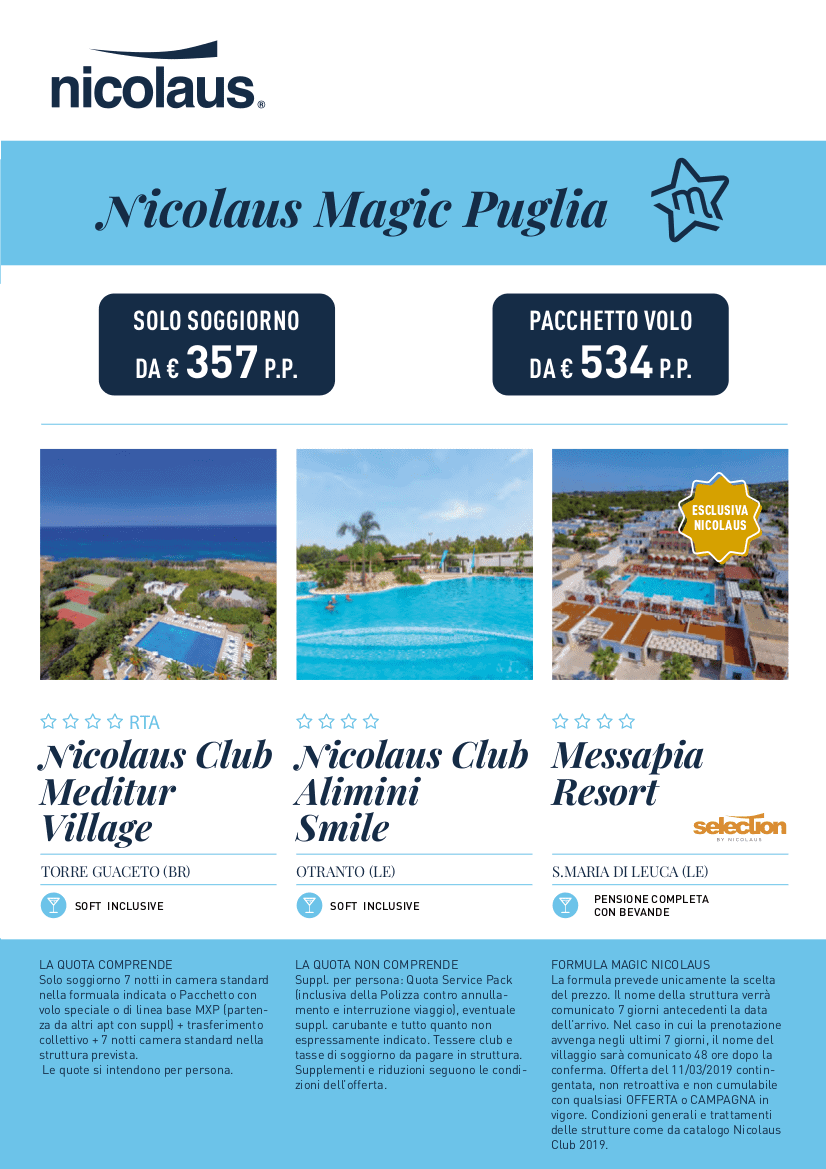 Nicolaus is magic puglia